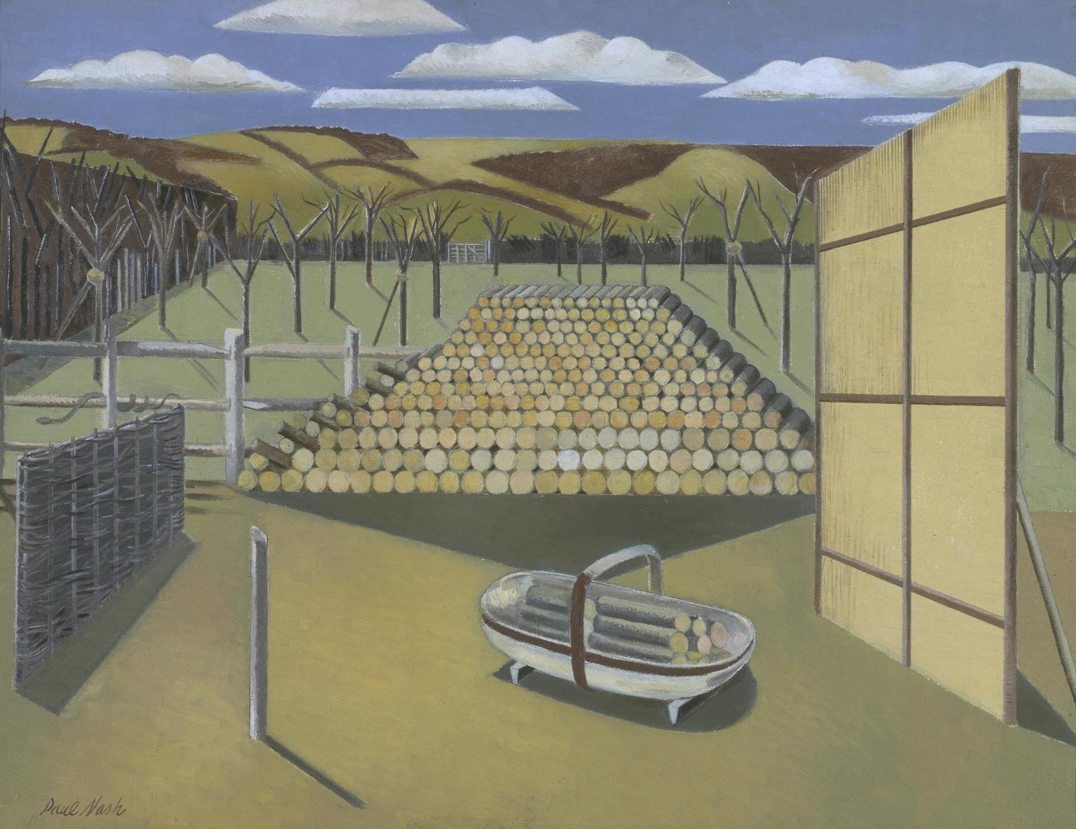 Landscape at Iden 1929 by Paul Nash 1889-1946