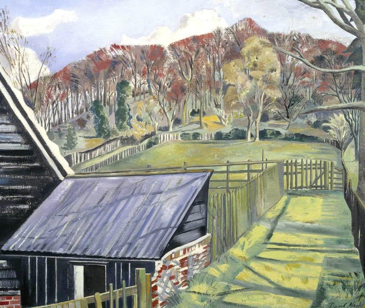 Nash, Paul, 1889-1946; Behind the Inn
