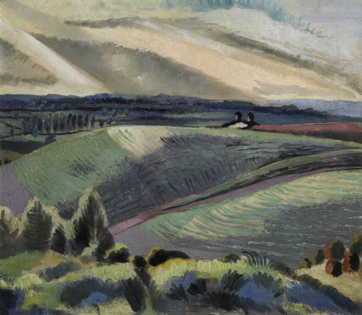 Nash, Paul, 1889-1946; Cotswold Hills
