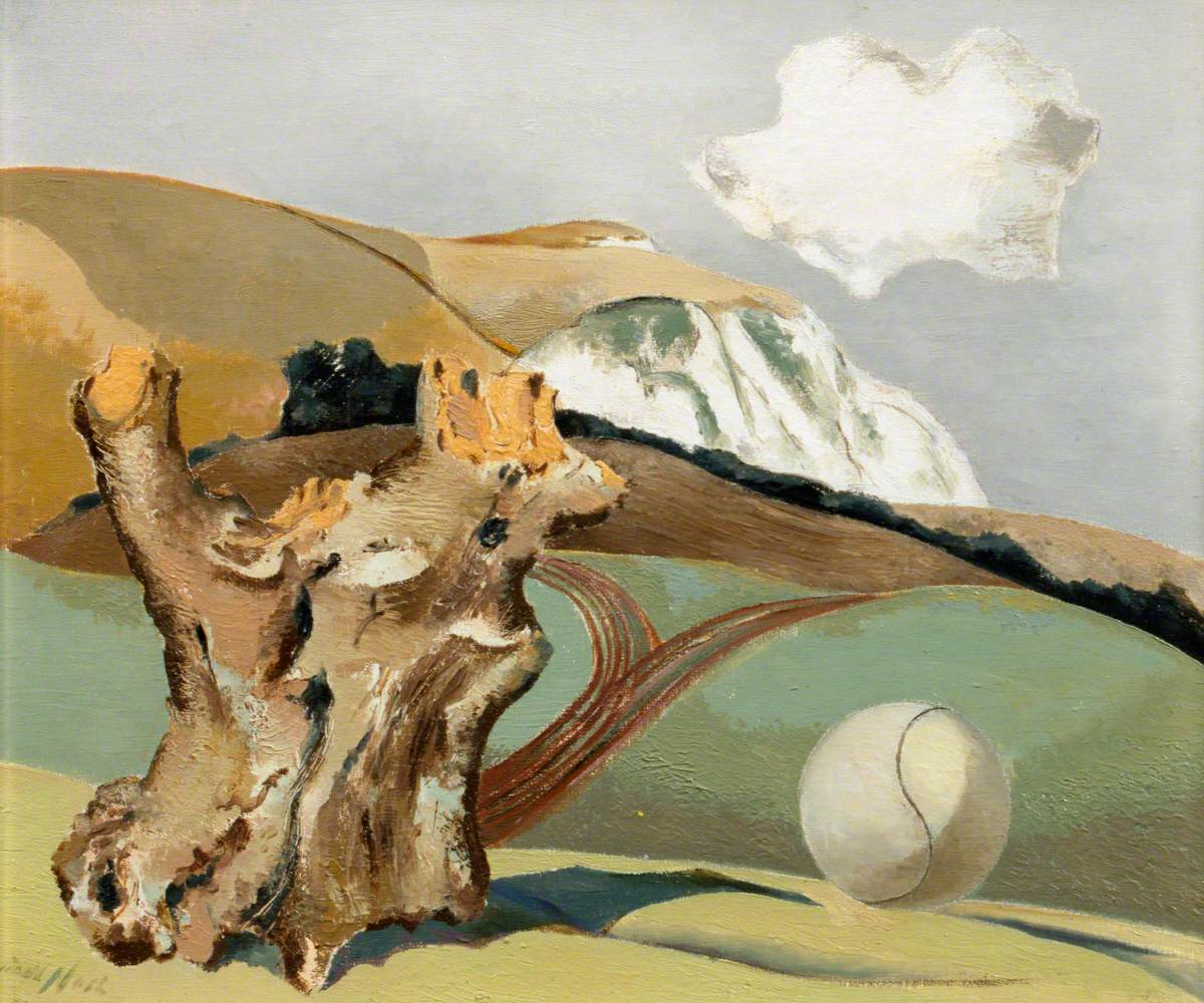 Nash, Paul, 1889-1946; Event on the Downs