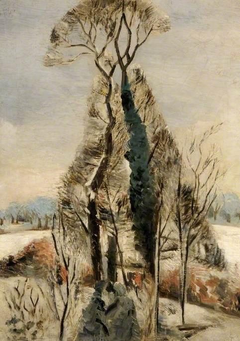 Nash, Paul, 1889-1946; Iver Heath, Buckinghamshire, Snow