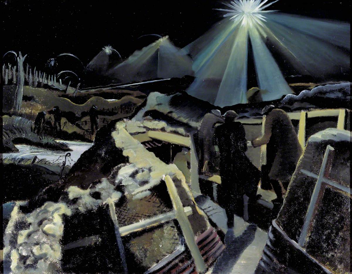 Nash, Paul, 1889-1946; The Ypres Salient at Night
