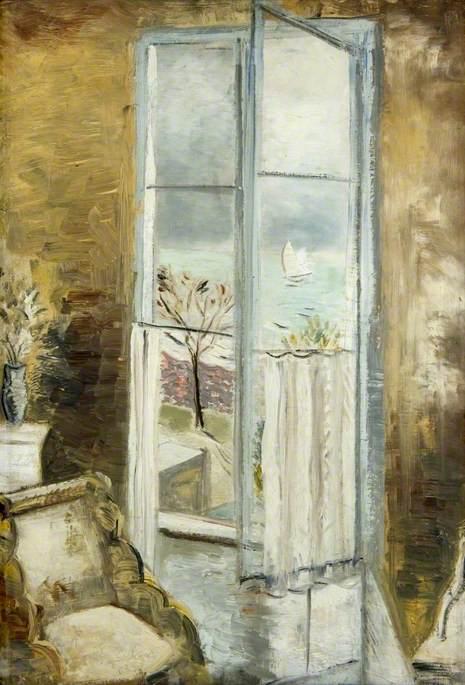 Nash, Paul, 1889-1946; Through a Window, Riviera