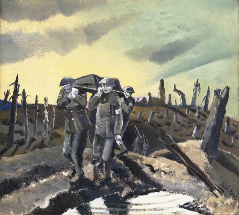 Nash, Paul, 1889-1946; Wounded, Passchendaele